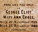 Here Lies the body of George Elliot, Mary Ann Cross